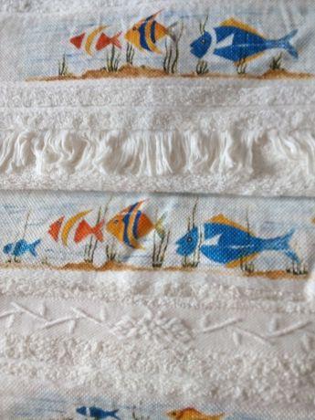 Conjunto de toalhas pintadas casa de banho
