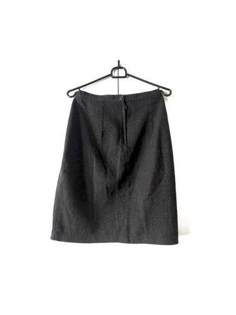 wełniana elegancka spódnica biurowa do pracy H&M  WOMAN w kolano