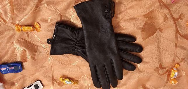 Рукавички шкіряні 8,5 Перчатки