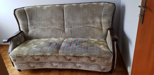 Holenderski komplet wypoczynkowy, kanapa plus dwa fotele