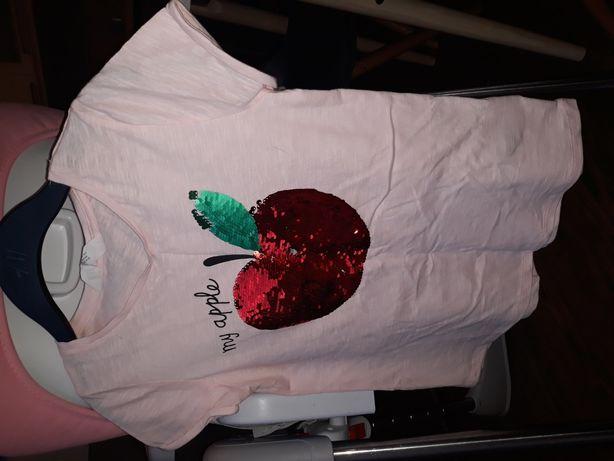 Koszulka hm 134\140 dla dziewczynki w idealnym stanie