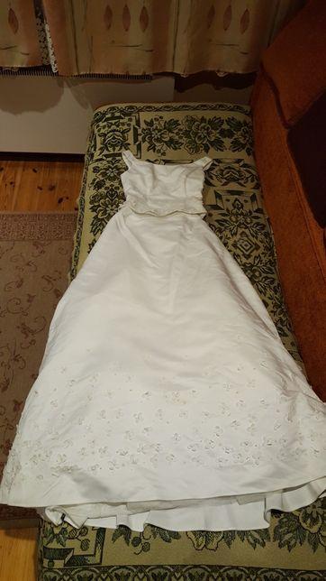 Suknia ślubna, prosta,biała, literka A