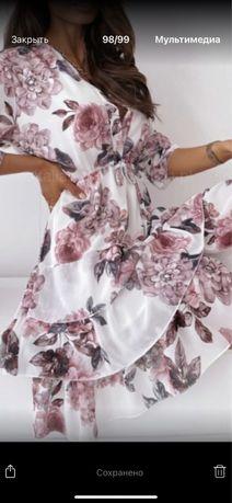 Платье в цветы пионы с пионами с цветами плаття
