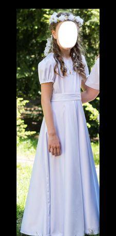 Sukienka komunijna do komunii alba bolerko wianek