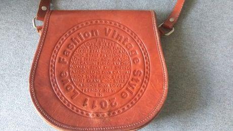 Skórzana torebka listonoszka vintage