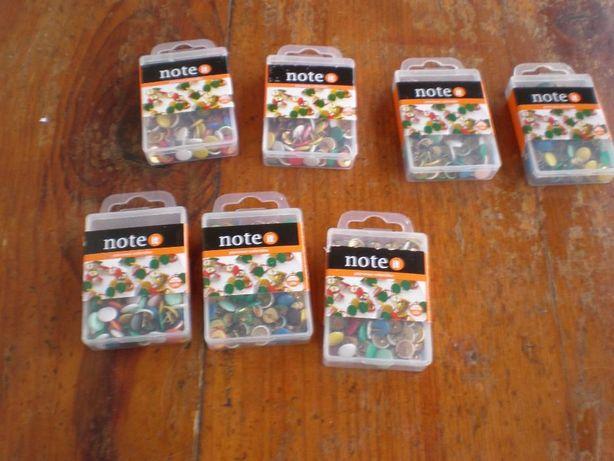 6 caixas pionaises multicolores