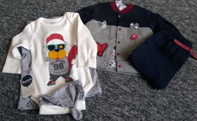 Paka nowej odzieży niemowlęcej 56/62/68/74