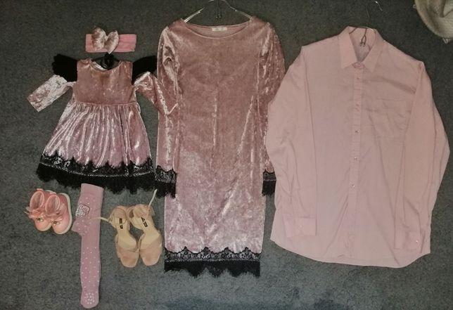 Famyli look фемели лук ботинки детские платье женское Рубашка мужская