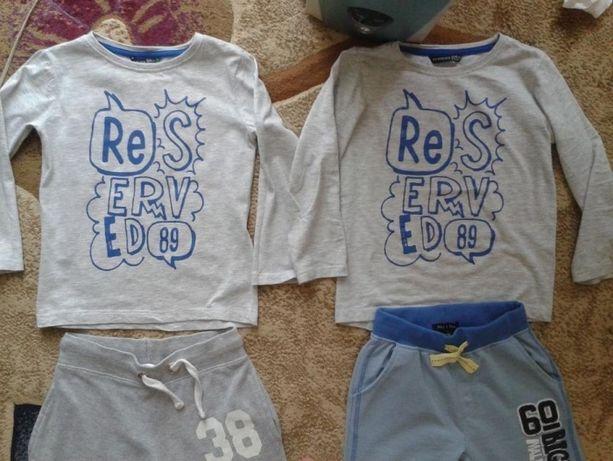 bluzki RESERVED bliźniaki r.104-110 bliźnięta