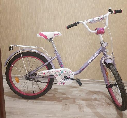 Велосипед для девочки фиолетового цвета новый