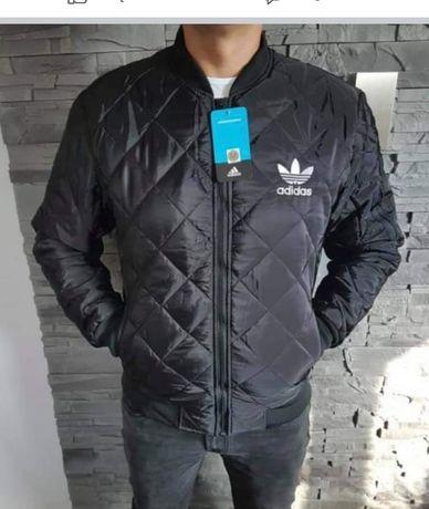 Czarna męska pikowana kurtka