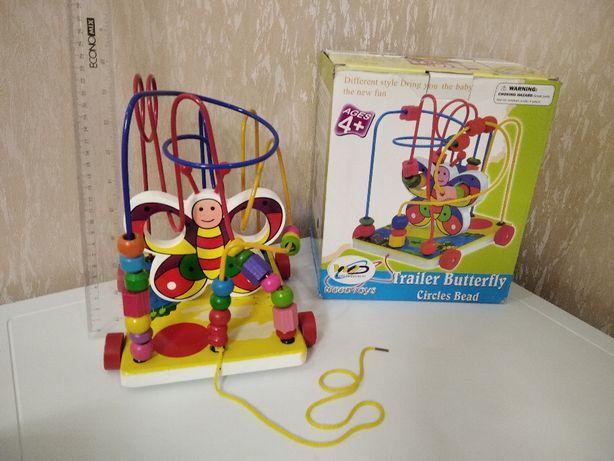 Развивающая игрушка лабиринт бабочка.