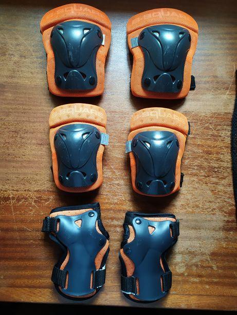 Proteções de mãos joelheiras e cotoveleiras