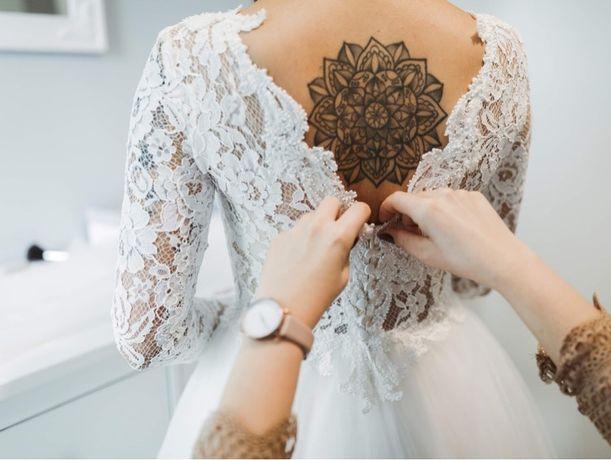 Suknia ślubna - welon i korona gratis