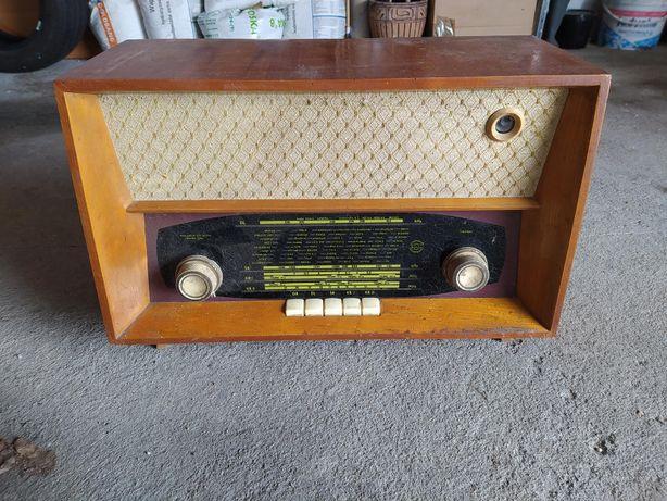 Radio lampowe stare. Radio Diora Romans