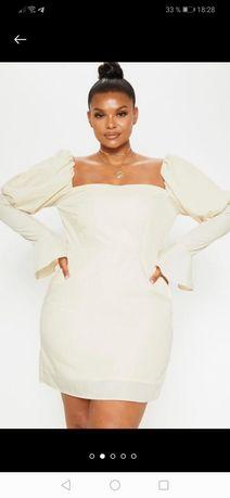 Платье с пышными рукавами актуально, размер 20