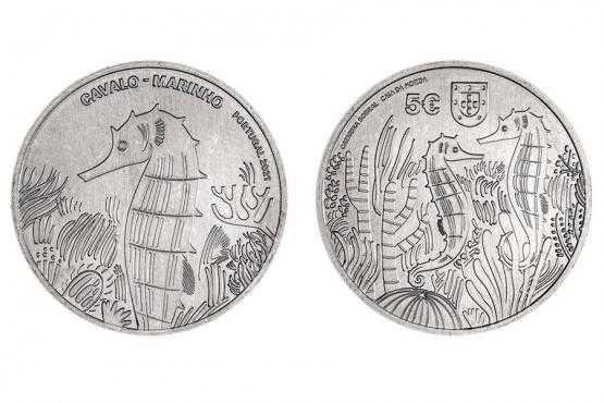 Moeda em prata comemorativa 5€ Cavalo Marinho 2021