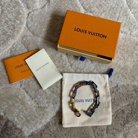 Pulseira Louis Vuitton com caixa e documentos