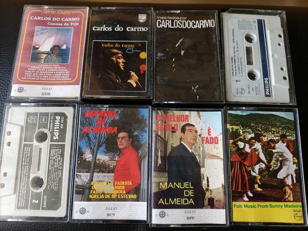 Cassetes e cds FADO: Carlos do Carmo e Manuel de Almeida