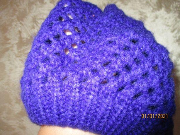 czapka/beret ażurowy