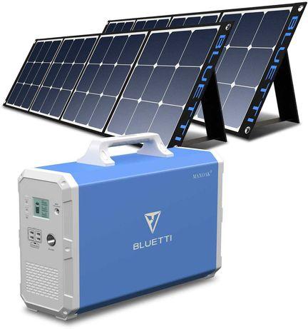 gerador solar 2400W Estação energia portátil painel solar incluído Kit