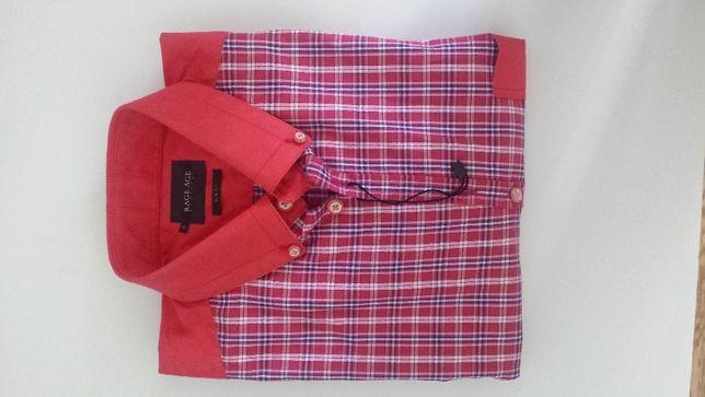 RAGE AGE Koszula Rozm. 40 Czerwona w kratę, nowa