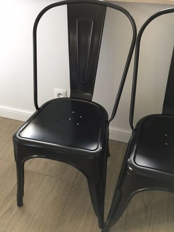 Krzesła paris jak tolix 4 sztuki czarne