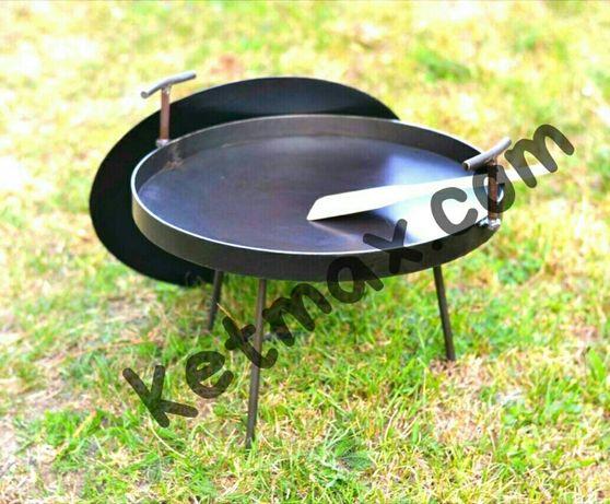 Комплект 500мм Сковорода+крышка, сковорода из диска, із диску, садж