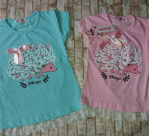 Хорошенькая футболочка Турция для девочки 1-5 лет