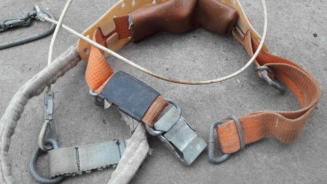 Пояс предохранительный с карабином, цепь, страховка