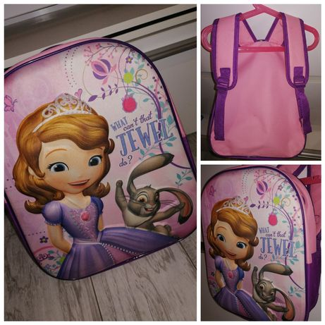 JEJ WYSOKOŚĆ ZOSIA plecak 5D do przedszkola plecaczek księżniczka
