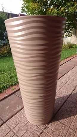 Beżowa doniczka ozdobna, wys. 78 cm, odbiór Bielsko-Biała