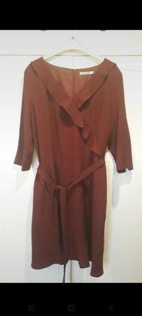 Sukienka Quiosque r 44 bordowa