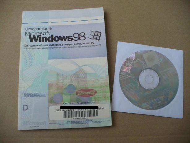 licencja windows 98 plus płyta