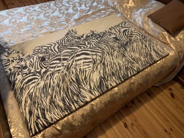 Duży obraz w zebry obraz zebra