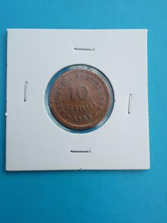Moeda 10 centavos 1938 Escassa