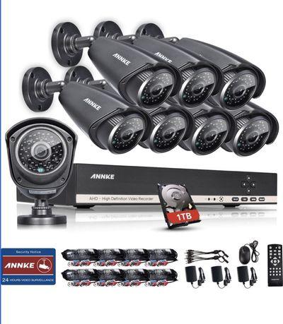 zestaw monitoringu / kamery ANNKE 8 kamer + rejestrator