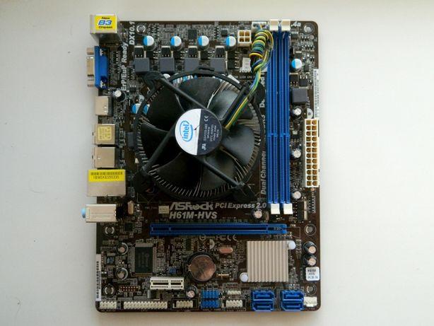 Комплект s1155, Xeon E3-1220 v2, кулер Intel BOX за 6600 рублей
