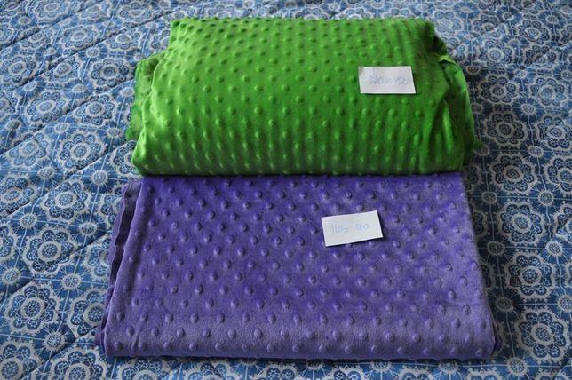 zielona tkanina minky 300x170