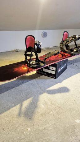 Deska Snowboardowa 155cm + wiązania Nidecker FR660 XL