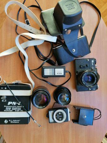 prawdziwie oldskulowy zestaw fotograficzny i wszystko w mega kondycji!