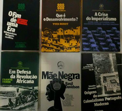 Pack 6 livros : colonialismo,revolução africana etc..