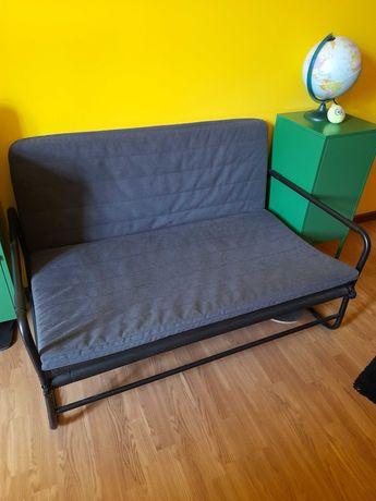 Sofá-cama, cinz esc/preto, como nova