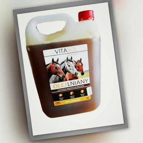 Olej lniany dla koni 5l