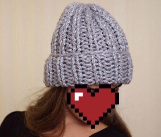 Тренд сезона, обьемная шапка крупной вязки