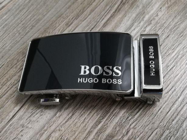 HUGO BOSS nowy pasek męski, mechanizm automatyczny, elegancki, czarny