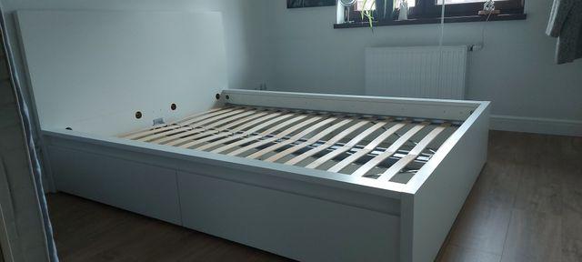 Łóżko Ikea Malm 160×200, 4 szuflady + Materac