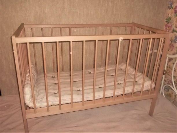Манеж детская кроватка с матрацем