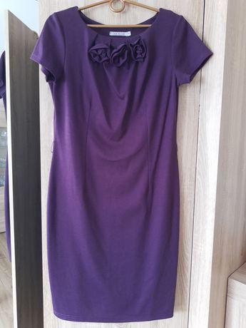Fioletowa sukienka Quiosque r.40 dzianinowa