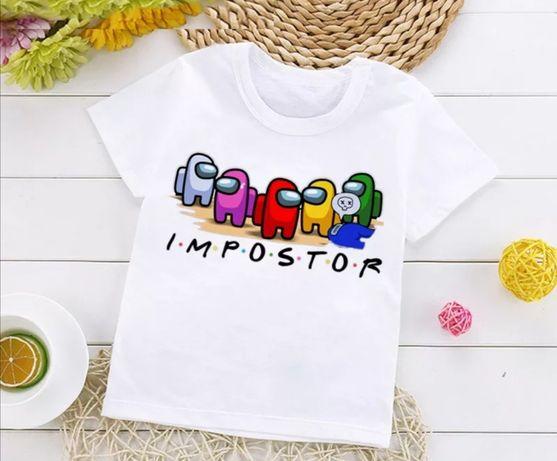 T-shirt Impostor/ Among us 6/7 anos Nova* Última